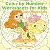 Color by Number Worksheets for Kids - Math Workbooks | Children's Math Books