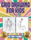 Drawing for kids 6 - 8 (Grid drawing for kids - Action Figures)