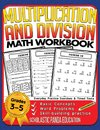 Multiplication and Division Math Workbook for 3rd 4th 5th Grades