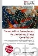 Twenty-First Amendment to the United States Constitution